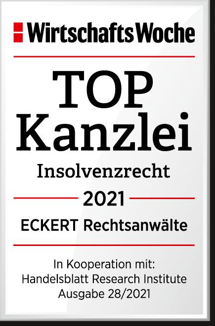 Wi Wo TOP Kanzlei Insolvenzsrecht 2021 ECKERT Rechtsanwaelte Wissensbasis Orga Team21 07 202110 54